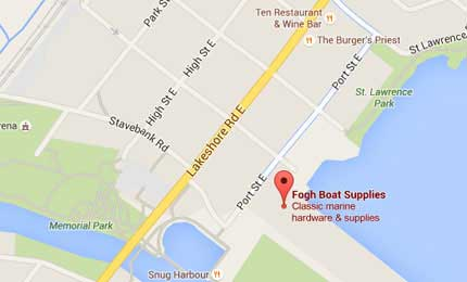 Fogh Boat Supplies Location